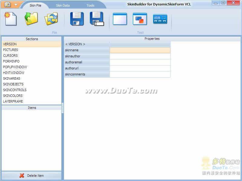 DynamicSkinForm VCL for Delphi 6下载