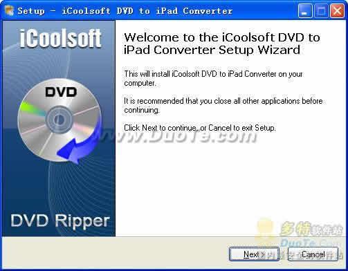 iCoolsoft DVD to iPad Converter下载