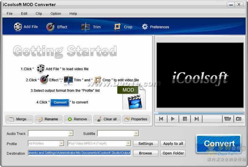 iCoolsoft MOD Converter下载