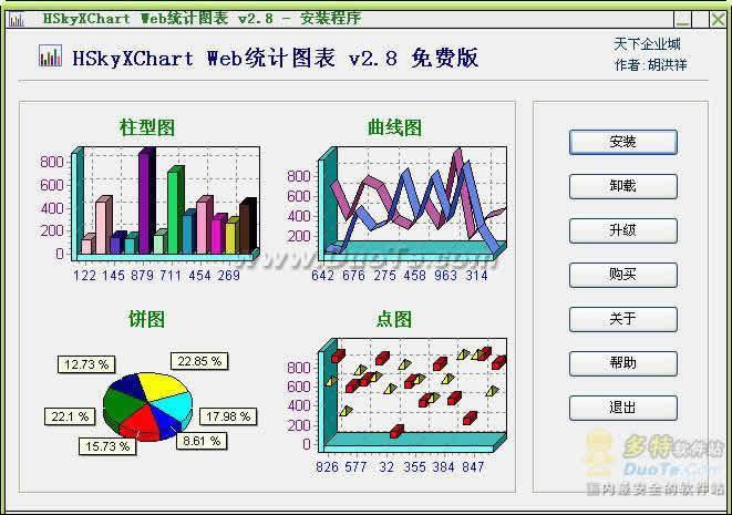 HSkyXChart Web统计图表下载