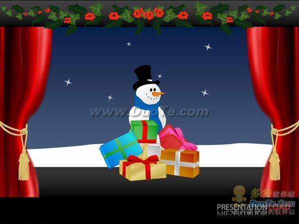 圣诞雪人PPT模板下载