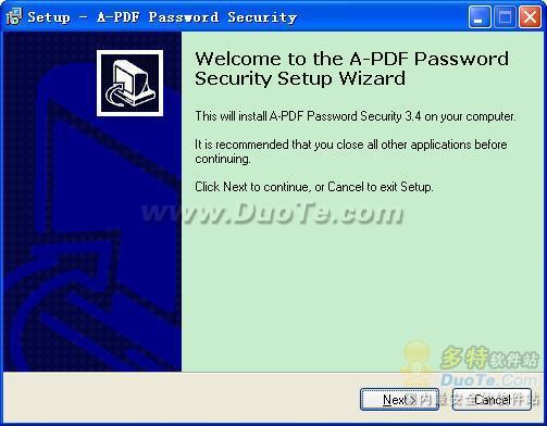 A-PDF Password Security下载
