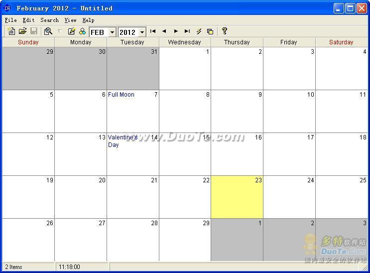 Calendar Program Pro下载