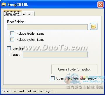 Snap2HTML(文件夹快照建立工具)下载