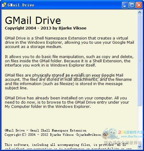 GMail Drive shell extension下载