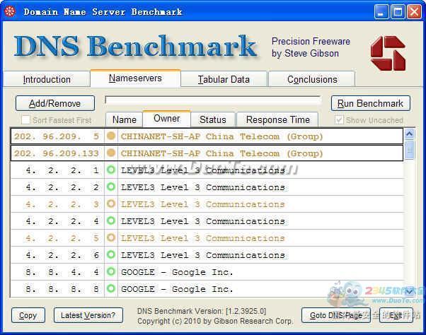 DNS测速工具(DNS Benchmark)下载
