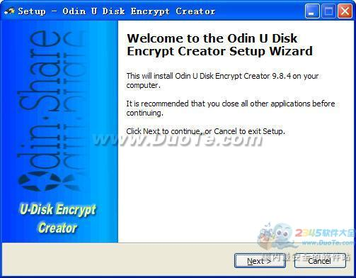 Odin U-Disk Encrypt Creator (U盘/闪存加密工具)下载