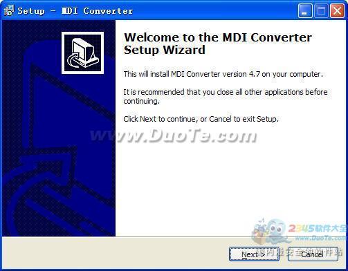 MDI Converter(MDI文件格式转换器)下载