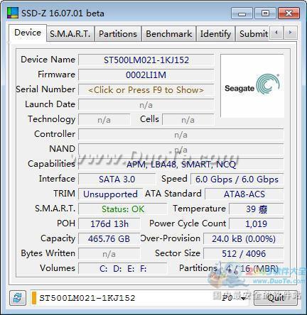 SSD-Z固态硬盘检测工具下载