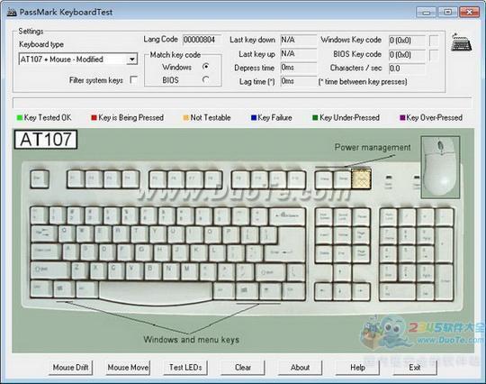 PassMark KeyboardTest(键盘检测软件)下载