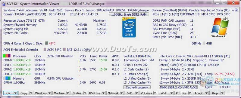 SIV-System Information Viewer ( cpu和主板温度检测)下载