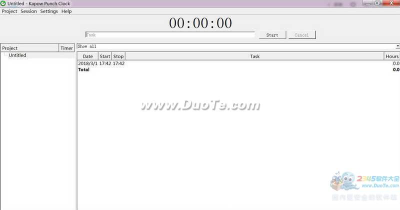 Kapow Punch Clock(时间跟踪工具)下载