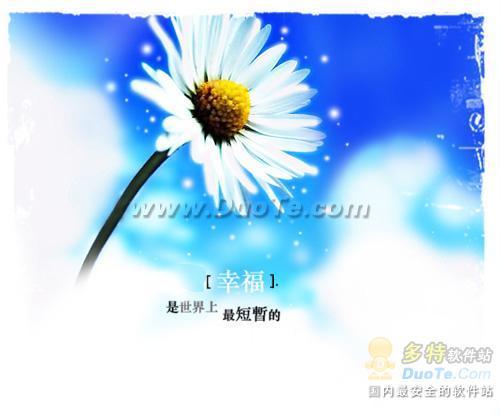 浮雕效果展现非主流鲜花的另类美