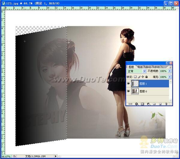 制作图片折叠效果