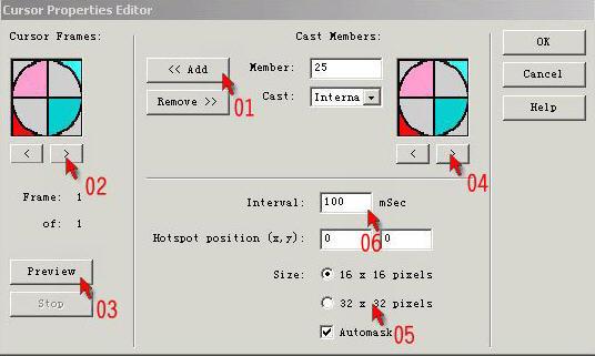 Director怎样制作自定义光标