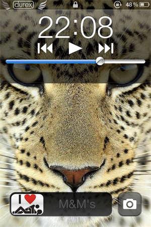 iPhone4锁屏界面美化教程