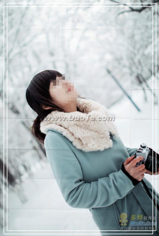 雪中精灵 美图秀秀打造晶莹雪景照