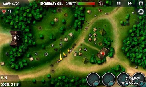 《轰炸机防御》入门技巧及武器说明