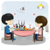 浪漫晚餐主题桌面