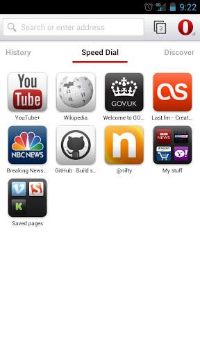 Opera 浏览器 beta软件截图0