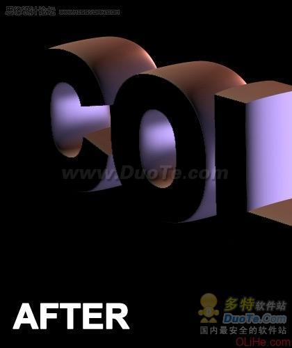 Photoshop制作令人惊叹的3D文字效果(1)