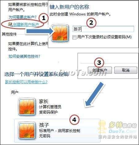 组策略加Win7家长控制 限制使用电脑