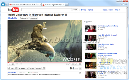Google为IE9发布WebM插件