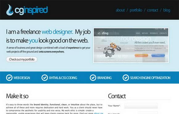 20个国外最新蓝色系网站设计欣赏