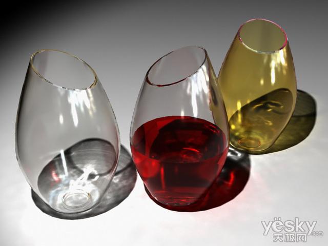 3dsMAX和Vary渲染制作透明玻璃酒杯