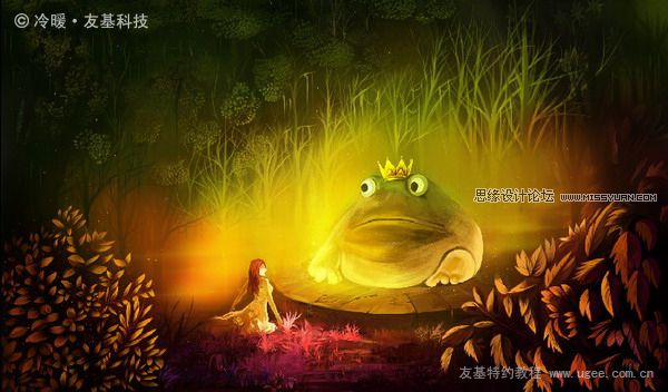 Painter绘画教程之青蛙王子