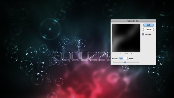 Photoshop文字特效教程之制作梦幻的泡泡