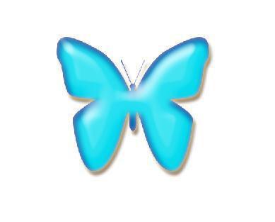 PS按钮制作高级教程之蝴蝶玻璃按钮