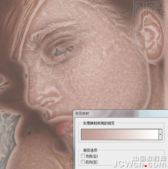 PS人物美容基础教程之利用通道计算及渐变映射给美女美化