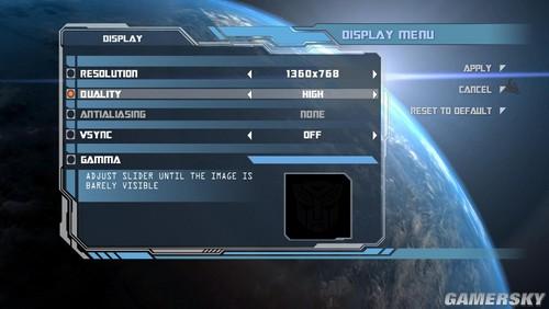 《变形金刚2》自己修改执行文件,设置任意分辨率