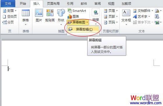 怎么使用office2010截图