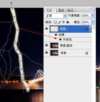 ps设计实例-打造逼真闪电