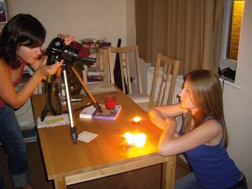人像摄影蜡烛的利用