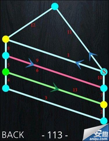 《一笔画》111-120关完整通过攻略