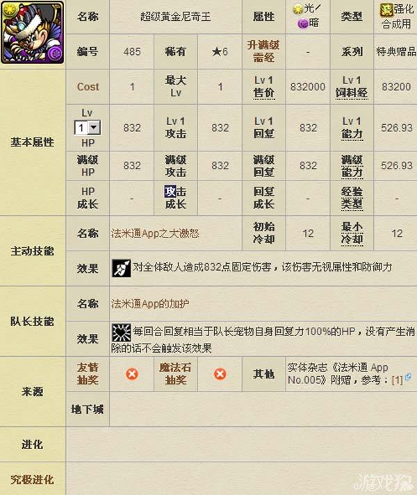 智龙迷城超级黄金尼奇王宠物图鉴数据2