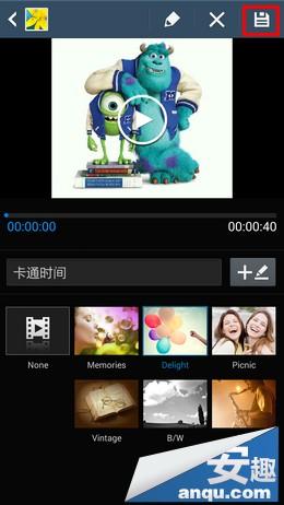 三星Note3使用技巧:多张图片创建视频短片