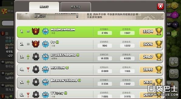 部落战争(Clash of Clans)COC飞龙野猪流送上3200红牌