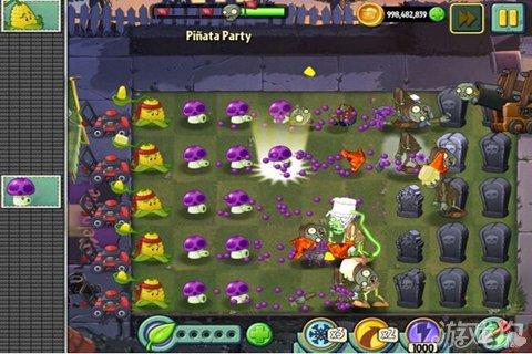 《植物大战僵尸2》强大僵尸玉米喷菇艰难过