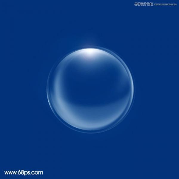 用PS绘制多层次立体效果的透明泡泡