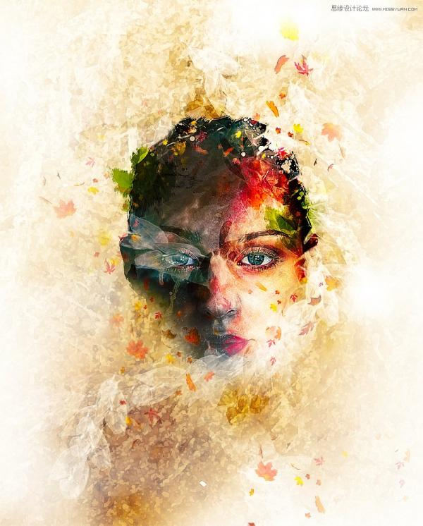 用Photoshop合成魔幻效果的创意人像脸谱