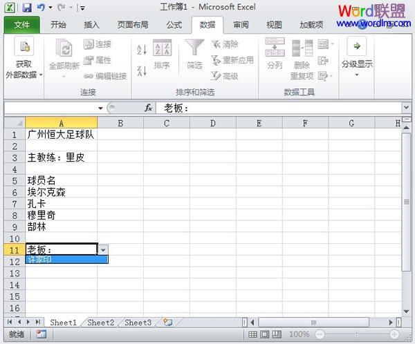 Excel2010数据有效性功能的使用