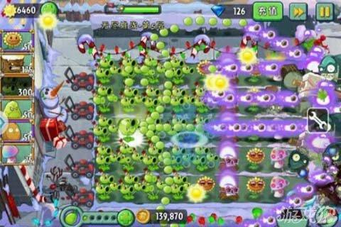 《植物大战僵尸2》三发豌豆的大招助你过第五层