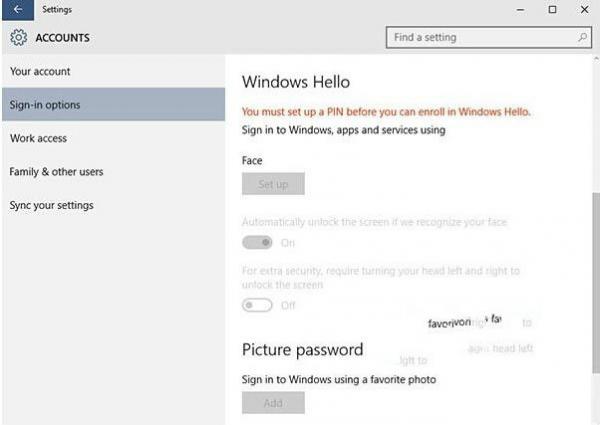 Win10系统Windows Hello功能怎么使用
