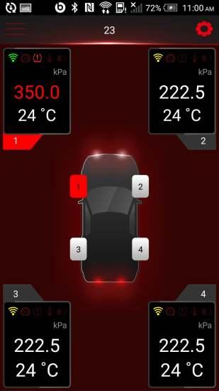 多轮蓝牙胎压监测系统