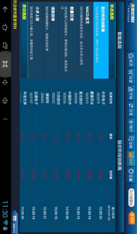 申万宏源赢家理财高端版HD软件截图4